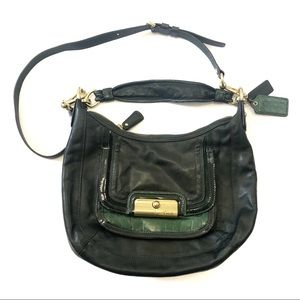 Coach Kristin Spectator Pine Green Leather Bag